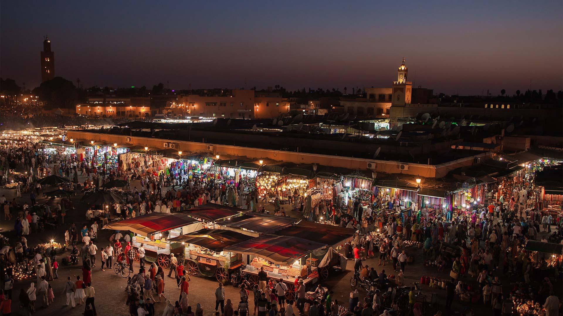 Noche en Marrakech, Jemaa el Fna