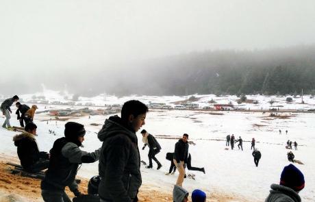nieve en Ifrane, Marruecos