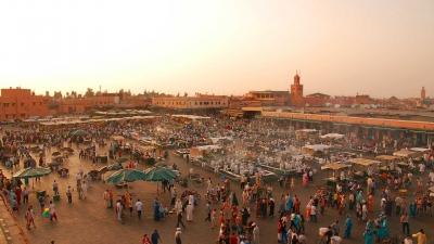 Jemaa el Fna, Marrakech, Marruecos.