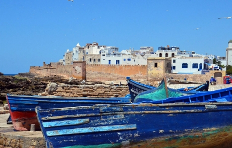 Barcos en Essaouira, Marruecos.