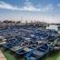 Barcos en el puerto de Essaouira, Marruecos.