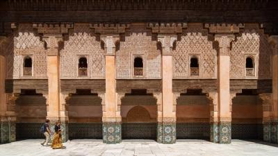 Marrakech, Medersa Ben Youssef, Marruecos.