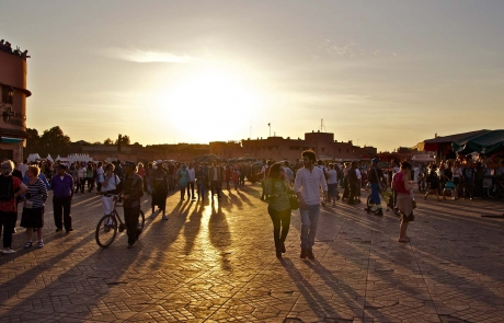 Atardecer en Marrakech, Jemaa el Fna