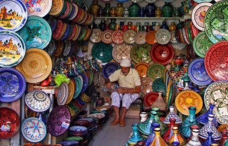 Artesanía en Marrakech, Marruecos