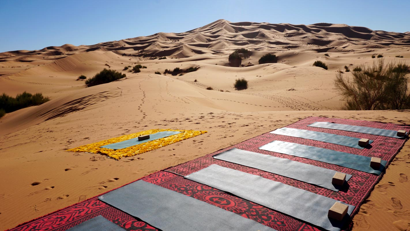 Yoga en lugares especiales. Marruecos