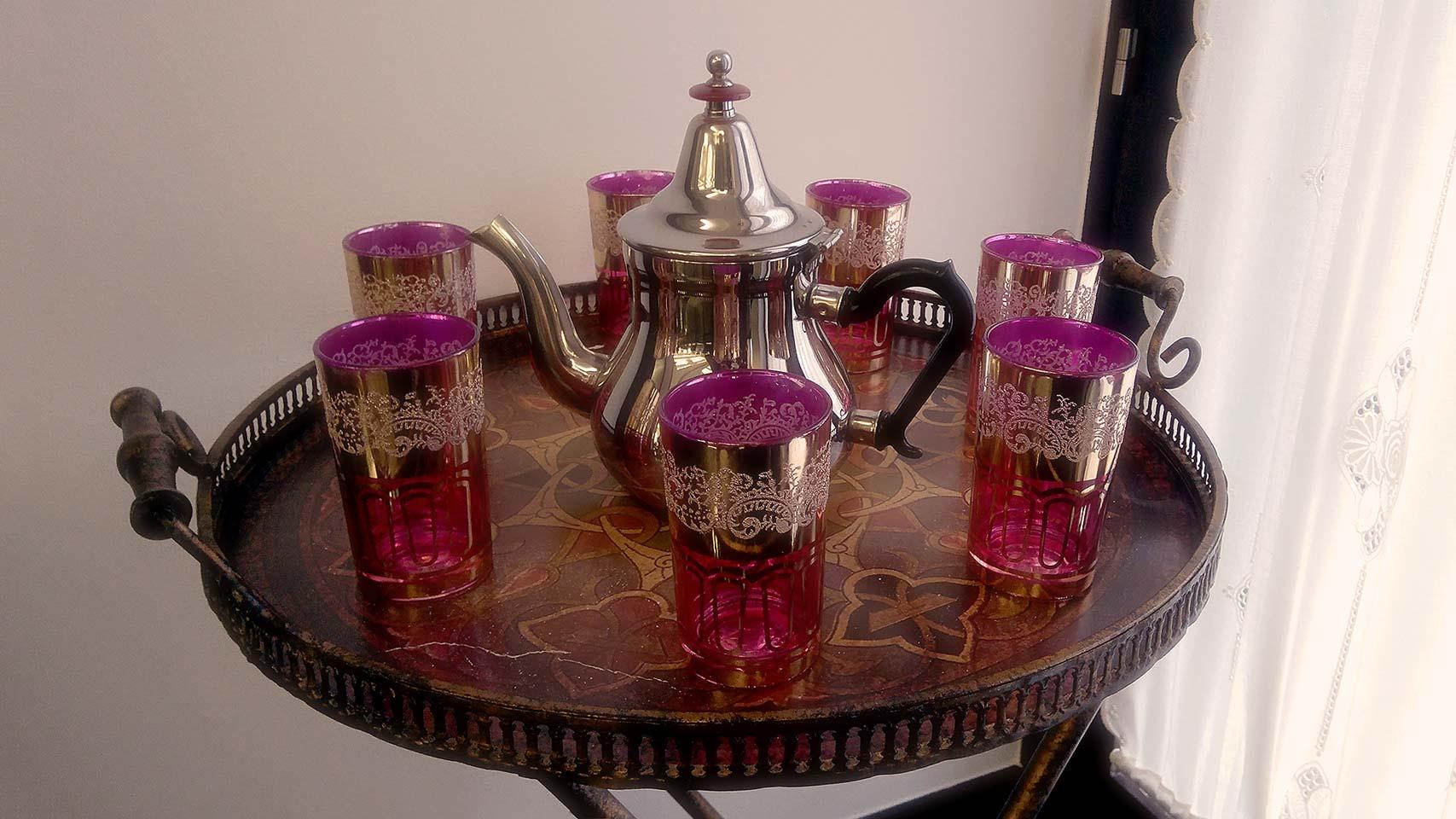 Te en el Hammam, baños árabes, Marruecos.