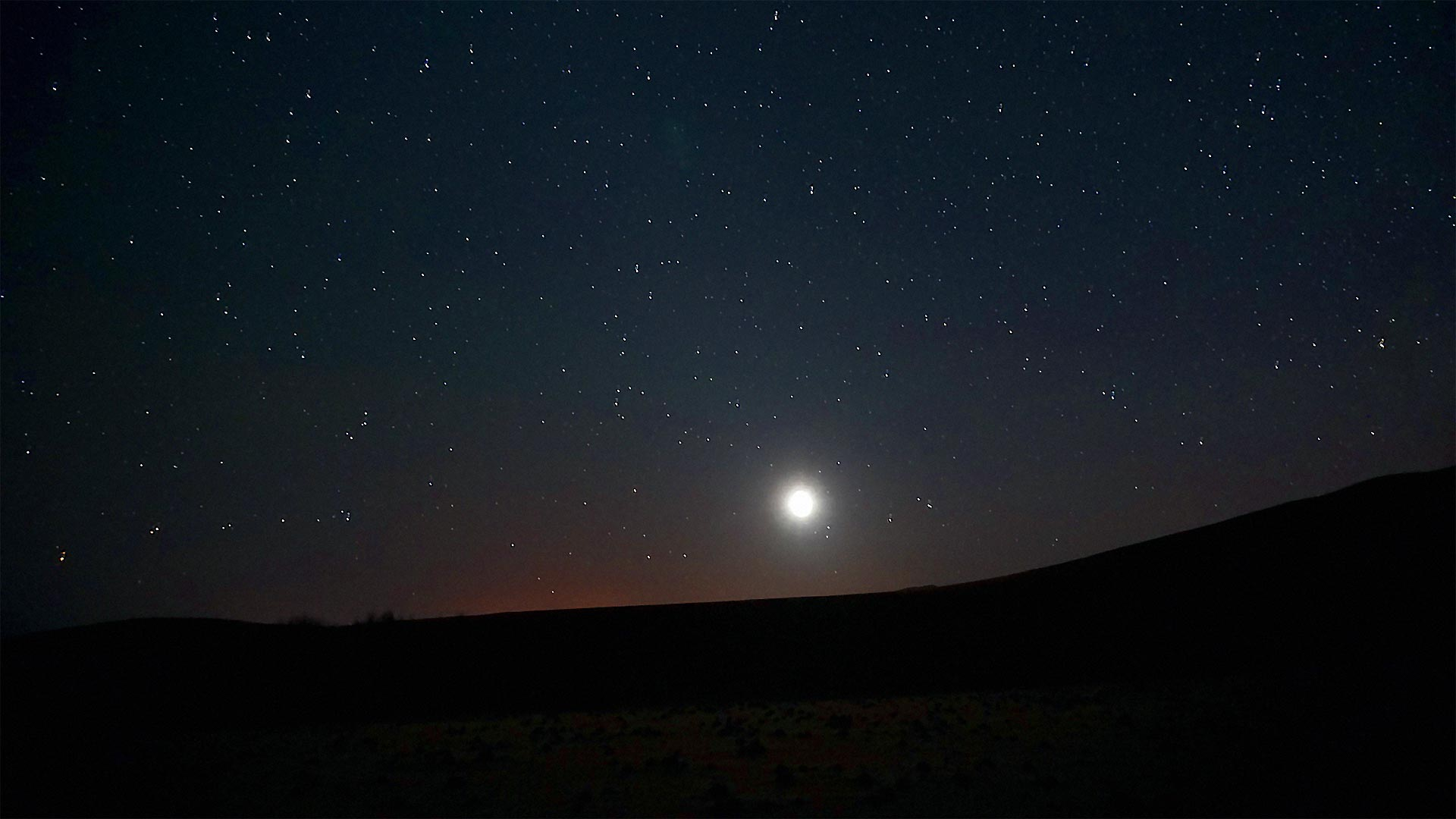Estrellas en la noche del desierto, Marruecos.